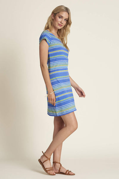 Hatley TSL179C Blue Nellie Textured Stripes Dress - Shirley Allum