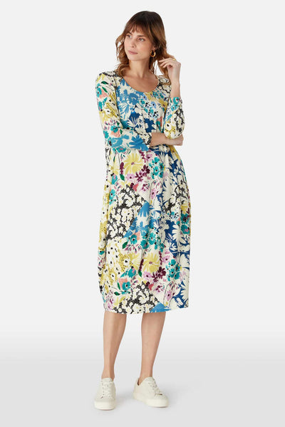Sahara GTD1135-PFC Multicolour Floral Collage Bubble Dress - Shirley Allum