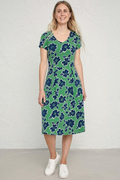Seasalt Pier View Penwith Bloom Field Green Dress - Shirley Allum