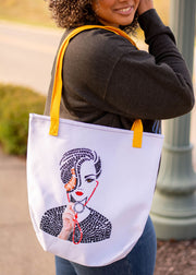 She Is Tote bag
