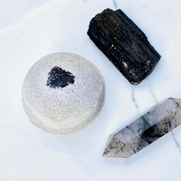 Black Tourmaline Crystal Bath Bomb
