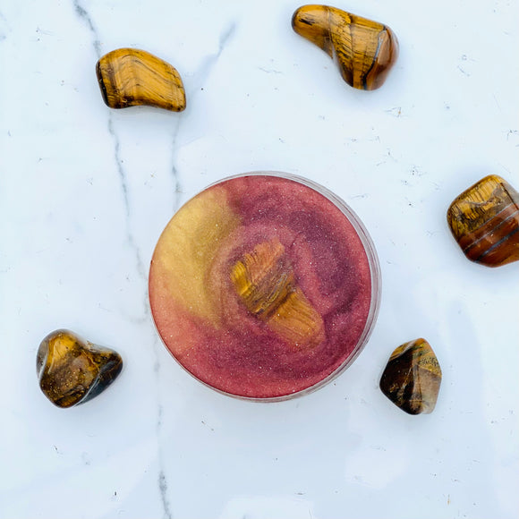 Tiger's Eye Embedded Crystal Soap