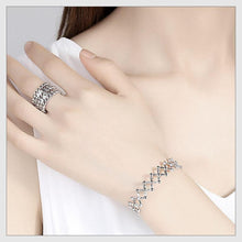 Load image into Gallery viewer, Creative Silver Ring, Bracelet And Puzzle Jewelry Box