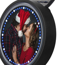 Load image into Gallery viewer, Personalized Photo Watch Touch Illuminated Watch Blue Leather Strap Couple's Gift