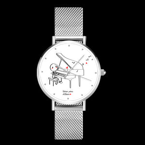 Couple Watch Gift Set Custom Text Concerto Of Love