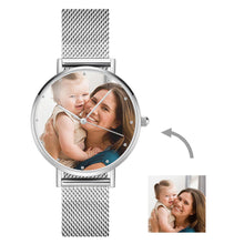 Load image into Gallery viewer, Men's Engraved Alloy Bracelet Photo Watch 40mm
