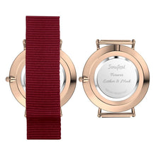 Load image into Gallery viewer, Personalized Engraved Watch, Photo Watch With Red Strap - Gift For Boyfriend