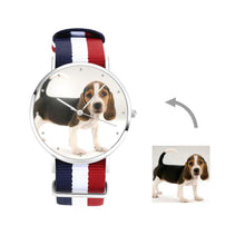 Load image into Gallery viewer, Engraved Photo Watch Color Nylon Strap