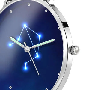 Women's Watch 36mm-Libra Constellation Watch With Luminous Pointer Alloy Bracelet