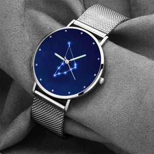 Women's Watch 36mm-Capricorn Constellation Watch With Luminous Pointer Alloy Bracelet