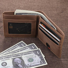Load image into Gallery viewer, Brown Custom Photo Engraved Wallet - Never Fade Away