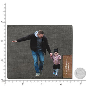 Mens Wallet, Personalised Wallet, Photo Wallet With Engraving