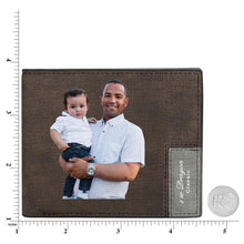 Load image into Gallery viewer, Short Custom Photo Wallet Brown Color Printing