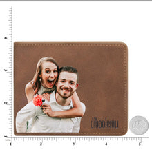 Load image into Gallery viewer, Custom Photo Wallet Brown Color Printing