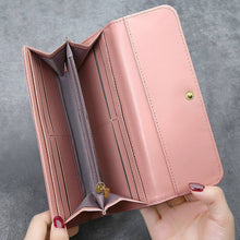 Load image into Gallery viewer, Women's Photo Engraved Trifold Photo Wallet - Pink Leather