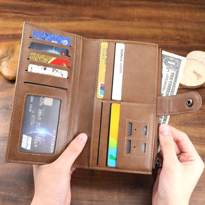 Bifold Custom Photo Wallet Long Style - Cross