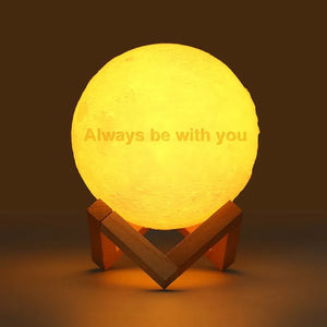 Moon Light Lamp 3D Printing Photo And Engraved Words-Touch Two Colors(10-20cm)