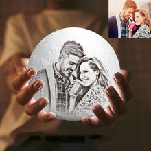Load image into Gallery viewer, Moon Light Lamp 3D Printing Photo And Engraved Words Creative Gift-Tap 3 Colors(10-20cm)