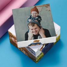 Load image into Gallery viewer, Custom Multi Photo Rubik's Cube - For Father And Children