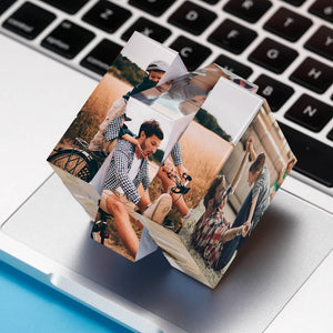 Custom Multi Photo Rubik's Cube - For Parents And Children