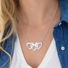 Load image into Gallery viewer, Intertwined Hearts Necklace with Birthstones