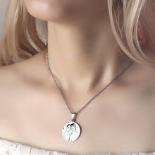 Load image into Gallery viewer, Women's Round Photo Engraved Necklace Stainless Steel