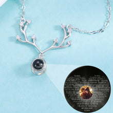 Load image into Gallery viewer, Personalized Photo Projection Antler Necklace