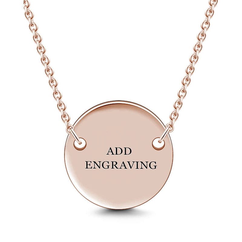 Engravable Hang Tag Necklace Rose Gold