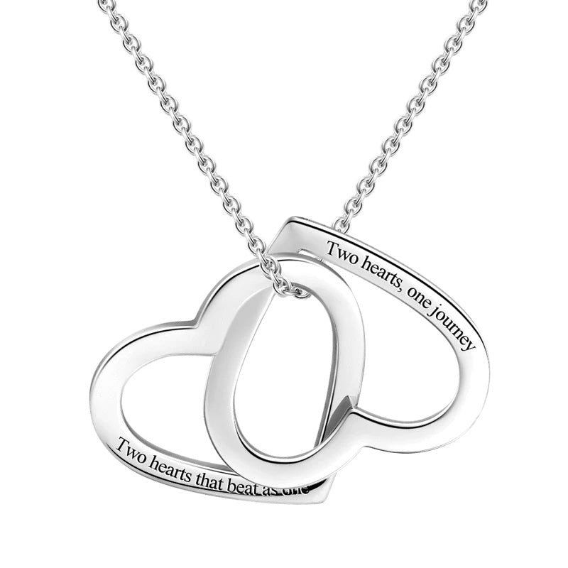 Engravable Love Necklace Silver For Her