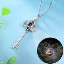 Load image into Gallery viewer, Personalized Photo Projection Key Necklace