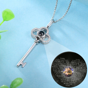 Personalized Photo Projection Key Necklace