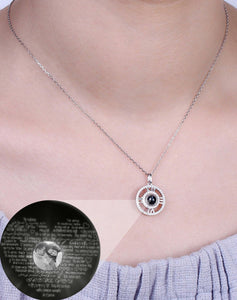 Personalized Photo Projection Round Necklace