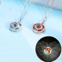 Load image into Gallery viewer, Personalized Photo Projection Round Necklace