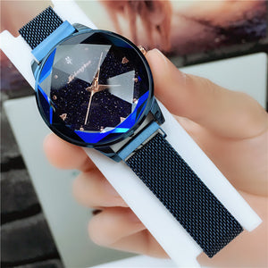 Starry Sky Watch Magnetic Strap Ladies Trendy Watch