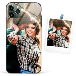 Custom Photo Protective Phone Case Glass Surface - iPhone X