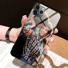 Load image into Gallery viewer, Custom Photo Protective Phone Case Glass Surface - iPhone X
