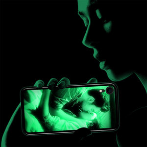 IPhone Xr Custom Noctilucent Photo Protective Phone Case Glass Surface