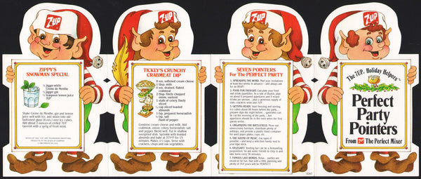 Vintage booklet 7 UP Perfect Party Pointers dated 1983 picturing elves n-mint+