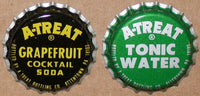 Vintage soda pop bottle caps A TREAT Collection of 4 different new old stock