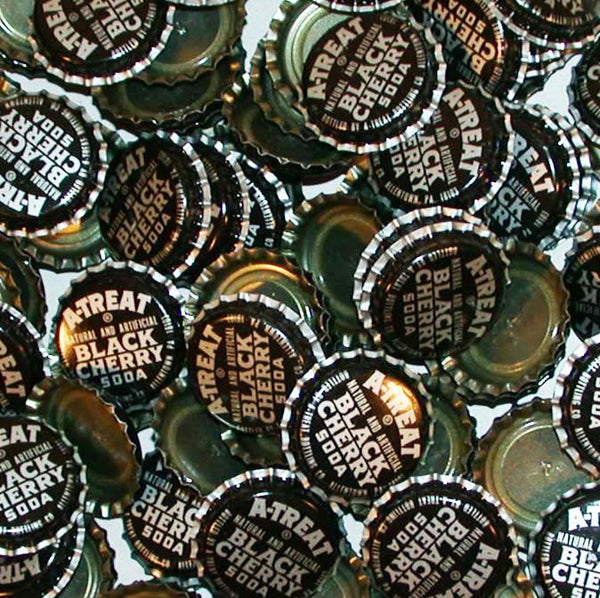 Soda pop bottle caps Lot of 25 A TREAT BLACK CHERRY SODA unused new old stock