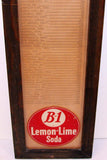 Vintage distance sign B-1 LEMON LIME SODA reverse glass Rocky Roost Welda Kansas RARE