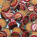 Soda pop bottle caps Lot of 25 BLUE RIBBON PUNCH cork lined unused new old stock