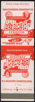 Vintage matchbook cover BROADWAY CIRCUS BAR clown pictured Rochester Minnesota