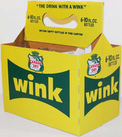 Vintage soda pop bottle carton CANADA DRY WINK unused new old stock n-mint condition