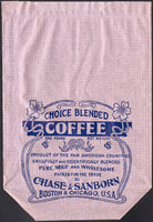 Vintage bag CHASE and SANBORN COFFEE 1lb Boston Chicago early one new old stock