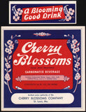 Vintage soda pop bottle label CHERRY BLOSSOMS 24oz St Louis MO unused n-mint+