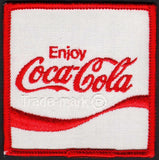 Vintage uniform patch COCA COLA soda pop reverse wave logo new old stock n-mint+