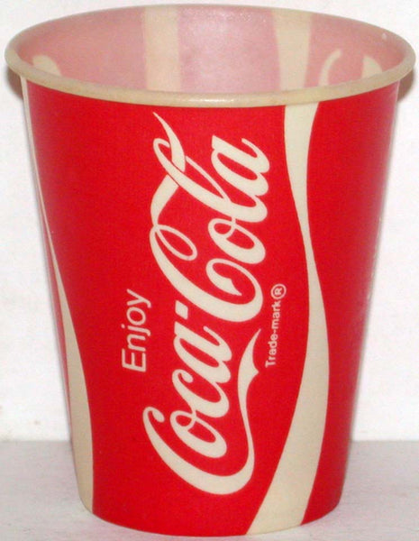 Vintage paper cups COCA COLA Lot of 3 different Free Sample size unused n-mint