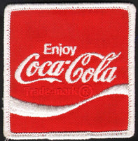 Vintage uniform patch COCA COLA soda pop wave logo #2 unused new old stock n-mint+