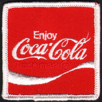 Vintage uniform patch COCA COLA soda pop wave logo #1 unused new old stock n-mint+